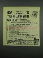 1954 Weatherby Magnum Rifle Conversion Ad