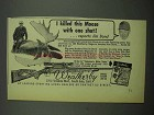 1954 Weatherby 300 Magnum Rifle Ad - Killed This Moose