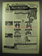 1953 Bushnell Binoculars Ad - Shooting Tigers in India