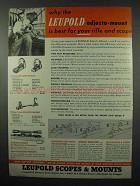 1953 Leupold Scopes and Mounts Ad - Best For Your Rifle
