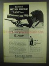 1953 Bausch & Lomb BALscope Sr. Scope Ad - Specialized