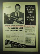 1953 Bausch & Lomb Hunting Sight Ad - Vernon Creitz