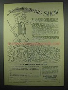 1953 National Rifle Association NRA Ad - The Big Show