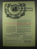 1953 National Rifle Association NRA Ad - Together