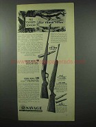 1953 Savage Model 99 and 340 Rifle Ad - No Season