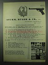 1953 Ruger Mark I Target Pistol Ad - Report on