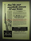 1953 Marlin Model 89-C Rifle Ad - Consistently Accurate