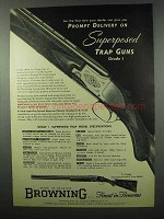 1953 Browning Grade I Superposed Trap Model Shotgun Ad