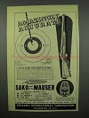1953 F.I. Gun Ad - Sako Short-Action Mauser Rifle - Accurate