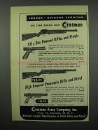 1953 Crosman CO2 Gas and Pneumatic Rifle and Pistol Ad