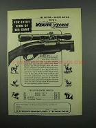 1953 Weaver Model K4 Scope Ad - Every Kind of Big Game