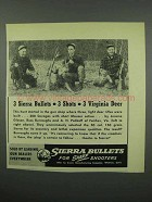 1953 Sierra Bullets Ad - 3 Shots 3 Virginia Deer