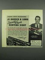 1953 Bausch & Lomb Variable Power Hunting Sight Ad