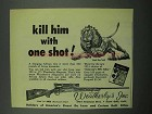 1953 Weatherby Magnum Rifle Ad - Kill Him - Lion