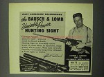 1953 Bausch & Lomb Hunting Sight Ad - Clifford Ashbrook