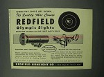 1953 Redfield Olympic Sights Ad - Quality That Counts