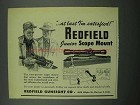1953 Redfield Junior Scope Mount Ad - I'm Satisfied