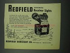 1953 Redfield Micrometer Receiver Sights Ad