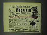 1953 Redfield Model 102 Hunting Receiver Sights Ad