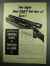 1952 Bausch & Lomb Variable Power Hunting Sight Ad