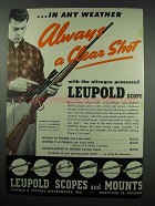 1952 Leupold 4x Pioneer scope Ad - Clear Shot