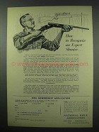1952 National Rifle Association NRA Ad - Expert Shooter