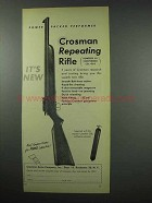 1952 Crosman Repeating Rifle Ad - Power Packed