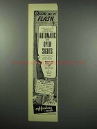 1952 Mossberg Model 151K Rifle Ad - Quick as a Flash