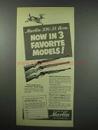 1952 Marlin Ad - 336 Rifle, Carbine & Sporting Carbine