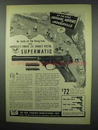 1952 Hi-Standard Supermatic Pistol Ad - NRA Matches