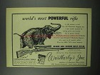 1952 Weatherby 300 Magnum Rifle Ad - Elephant