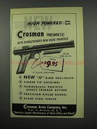 1952 Crosman Pneumatic Model No. 130 Pistol Ad