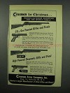 1952 Crosman CO2 Gas; Pneumatic Rifle and Pistols Ad