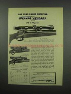 1952 Weaver Scopes Ad - K8, K6, KV