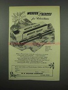 1952 Weaver K4 Scope Ad - For Christmas