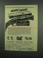 1952 Weaver K4 Scope Ad - For Accuracy Better Vision