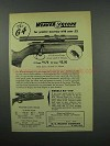 1952 Weaver G4 Scope Ad - For Greater Accuracy