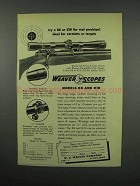 1952 Weaver K8 Scope Ad - For Real Precision