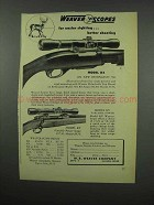 1952 Weaver K4 Scope Ad - For Easier Sighting