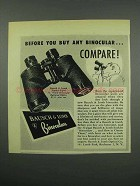 1952 Bausch & Lomb Binocular Ad - Before You Buy