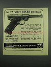 1952 Ruger Standard Pistol Advertisement - .22 Calibre Automatic