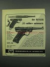 1952 Ruger Standard Pistol Ad - .22 Calibre Automatic
