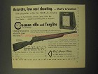1952 Crosman Ad - Rifle and Targlite