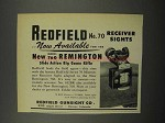 1952 Redfield No. 70 Receiver Sight Ad!