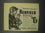 1952 Redfield No. 70 Micrometer Receiver Sight Ad - Accuracy
