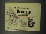 1952 Redfield No. 70 Micrometer Receiver Sight Ad