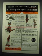 1951 Lyman Reloading Tools and Accessories Ad