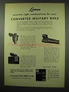 1951 Lyman Sights Ad - 48, 58, Ramp and Front