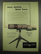 1951 Bausch & Lomb 60mm Spotting Scope Ad - Better