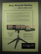 1951 Bausch & Lomb 60mm Spotting Scope Ad - Easy